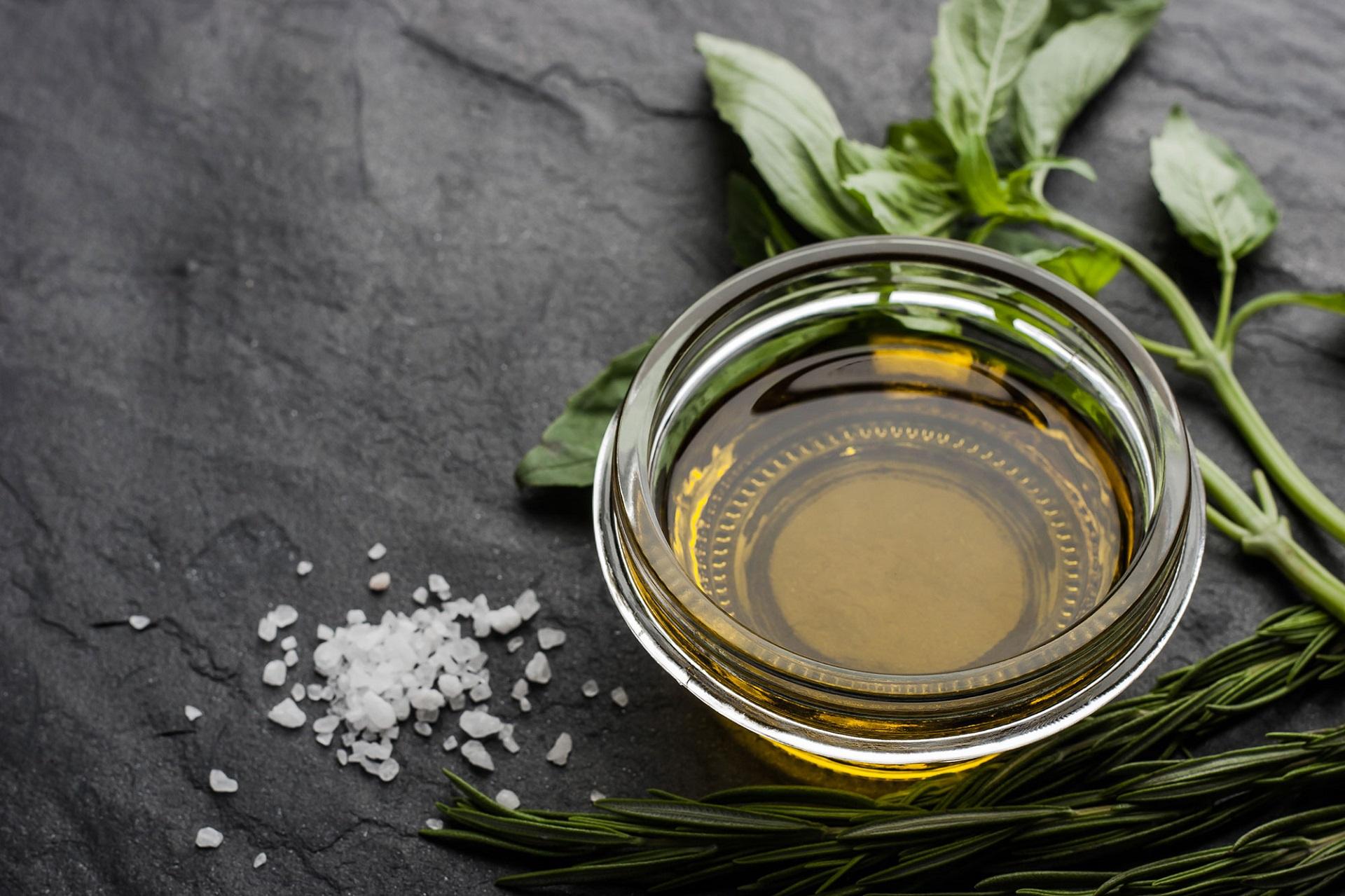 Olive oil & salt