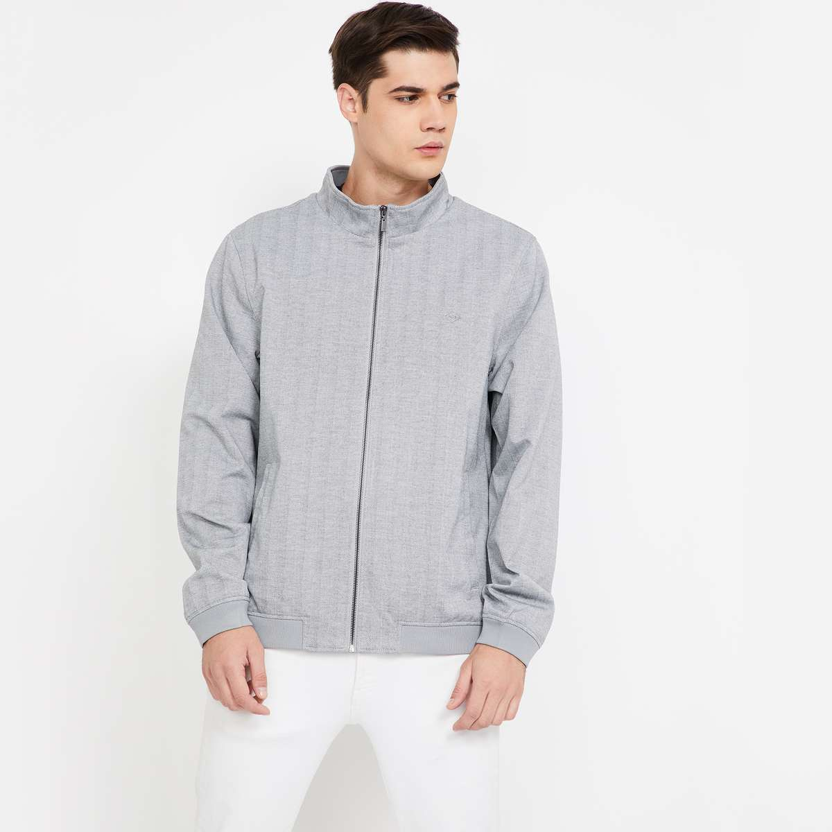 ARROW SPORT Striped Zip-Up Jacket