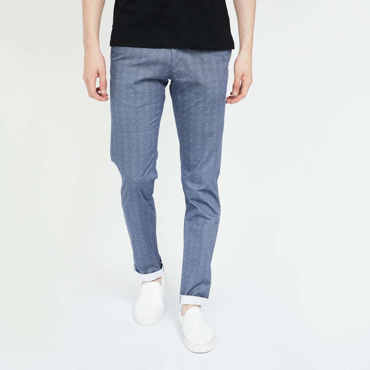 LOUIS PHILIPPE SPORT Striped Slim Fit Casual Trousers