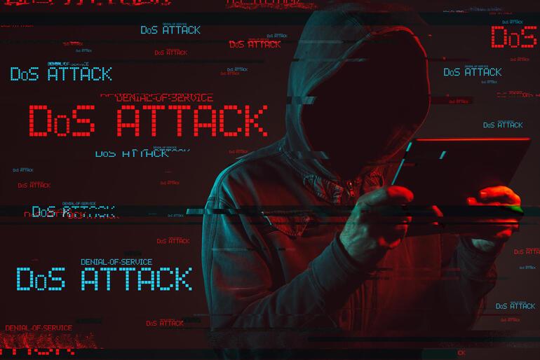Denial of service or DDoS attack concept