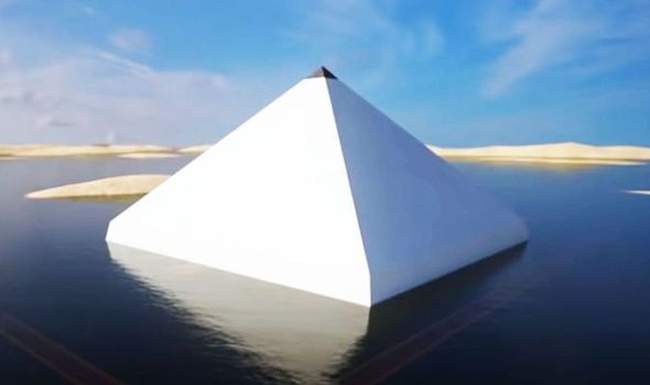 How the pyramid may have looked 4,000 years ago