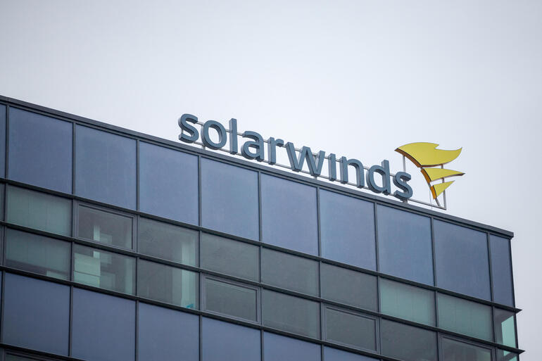 SolarWinds building with logo