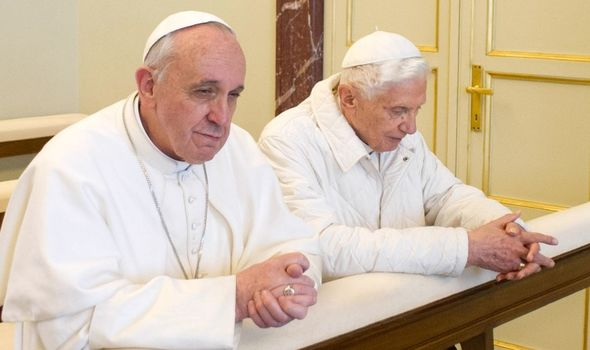 Pope Francis with Pope Benedict