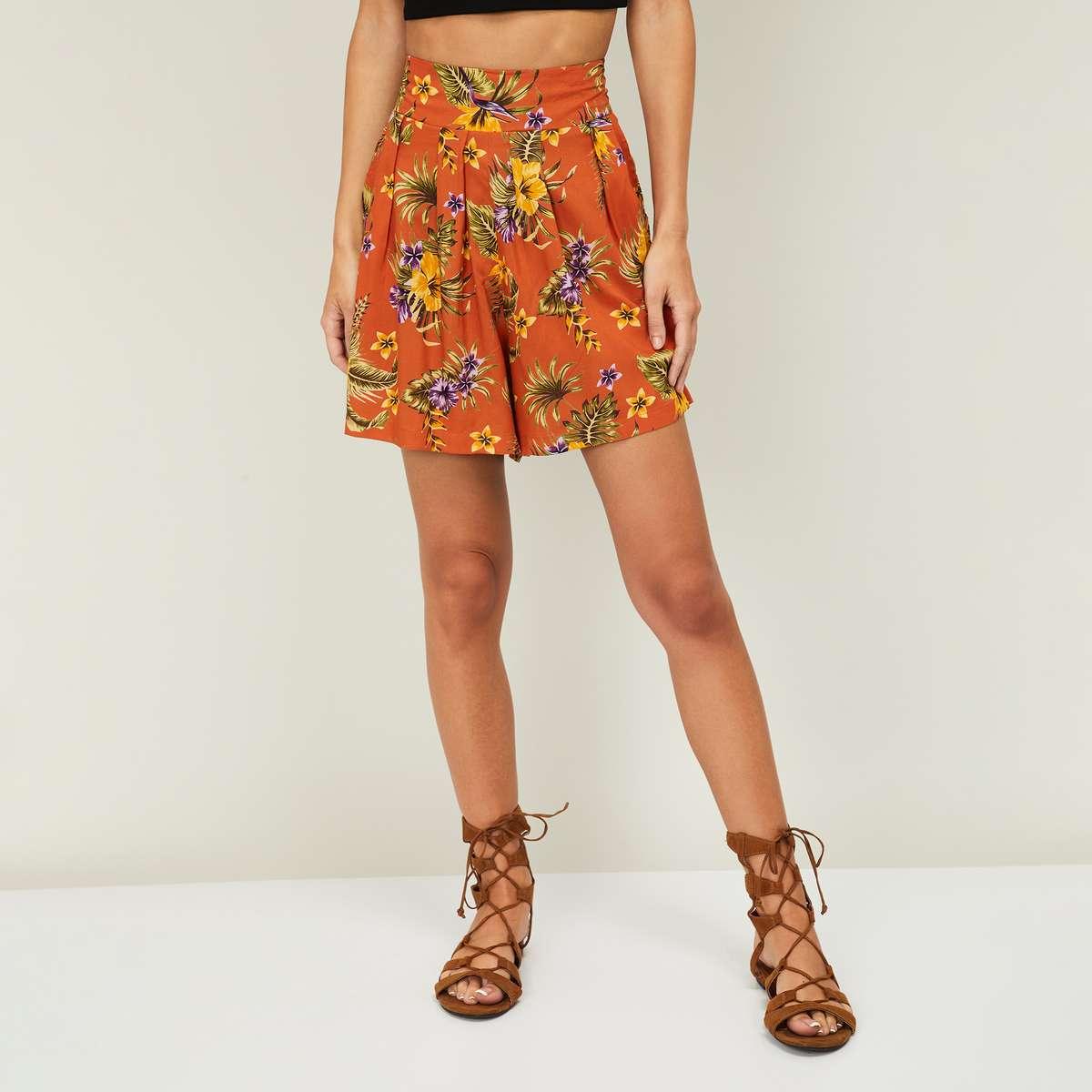 GINGER Women Floral Print Shorts