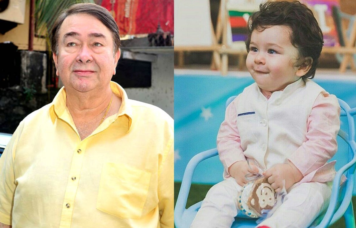Image result for Taimur and grandpa Randhir