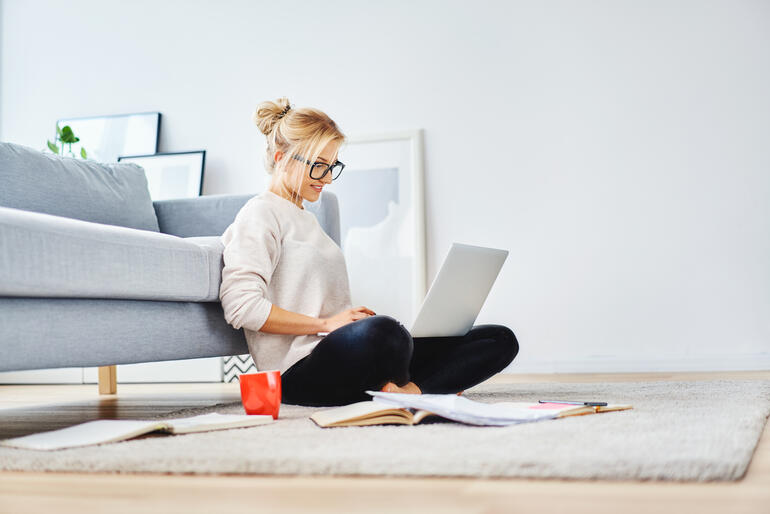 woman remote worker