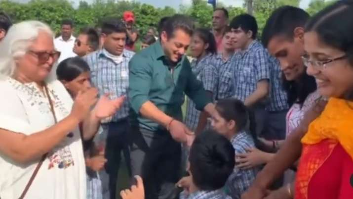 Watch: Salman Khan dances with specially abled kids on World Down Syndrome Day