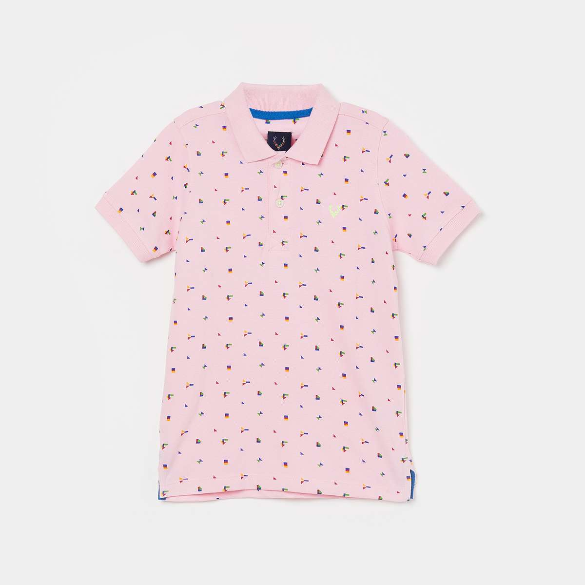 ALLEN SOLLY Boys Printed Short Sleeves Polo T-shirt