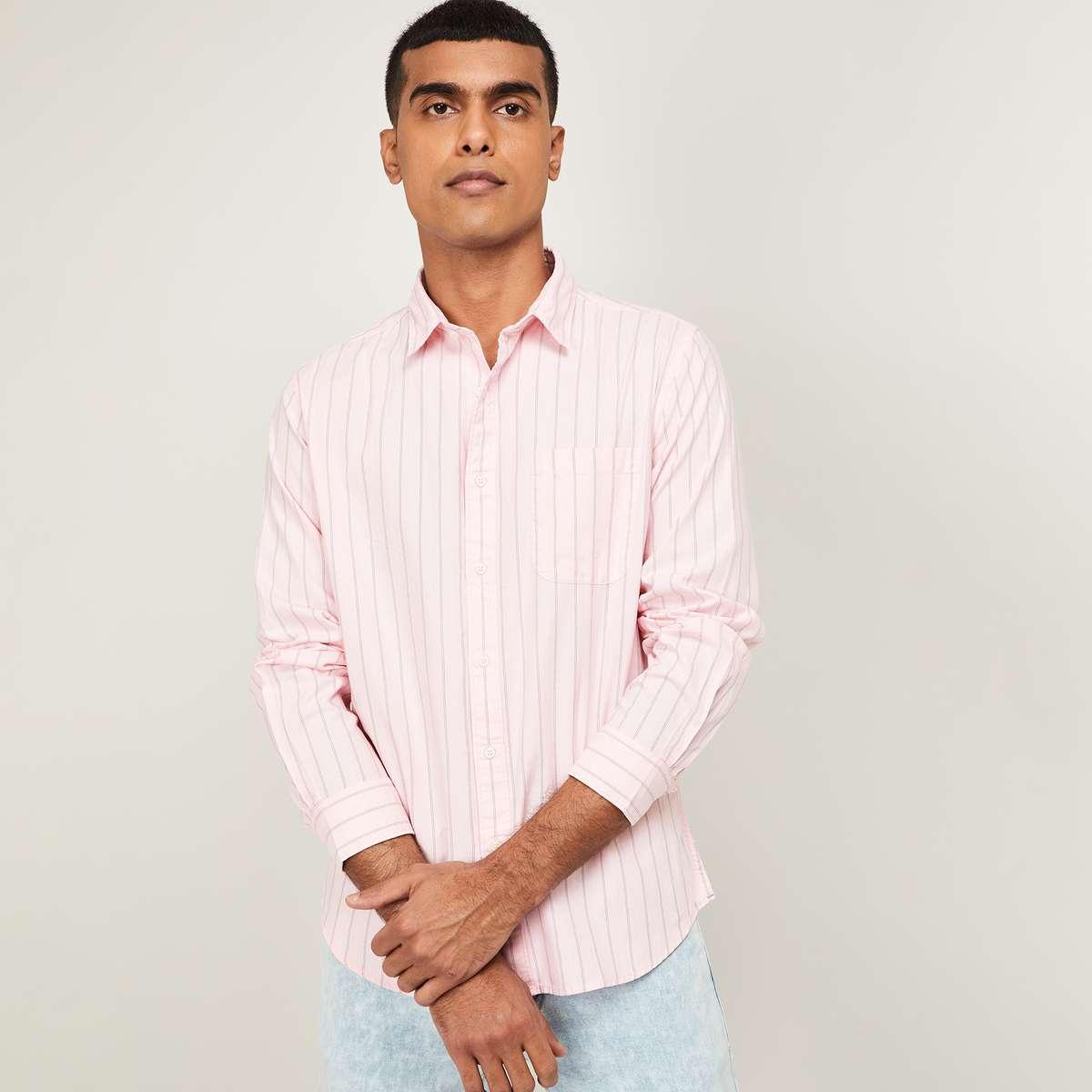 DENIMIZE Men Striped Regular Fit Casual Shirt