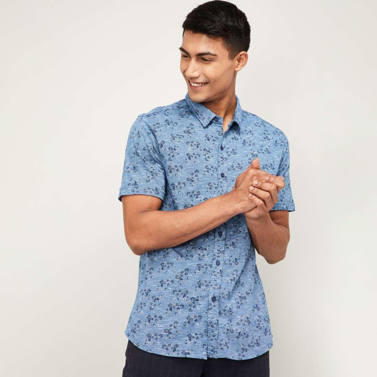 CODE Men Printed Regular Fit Casual Shirt