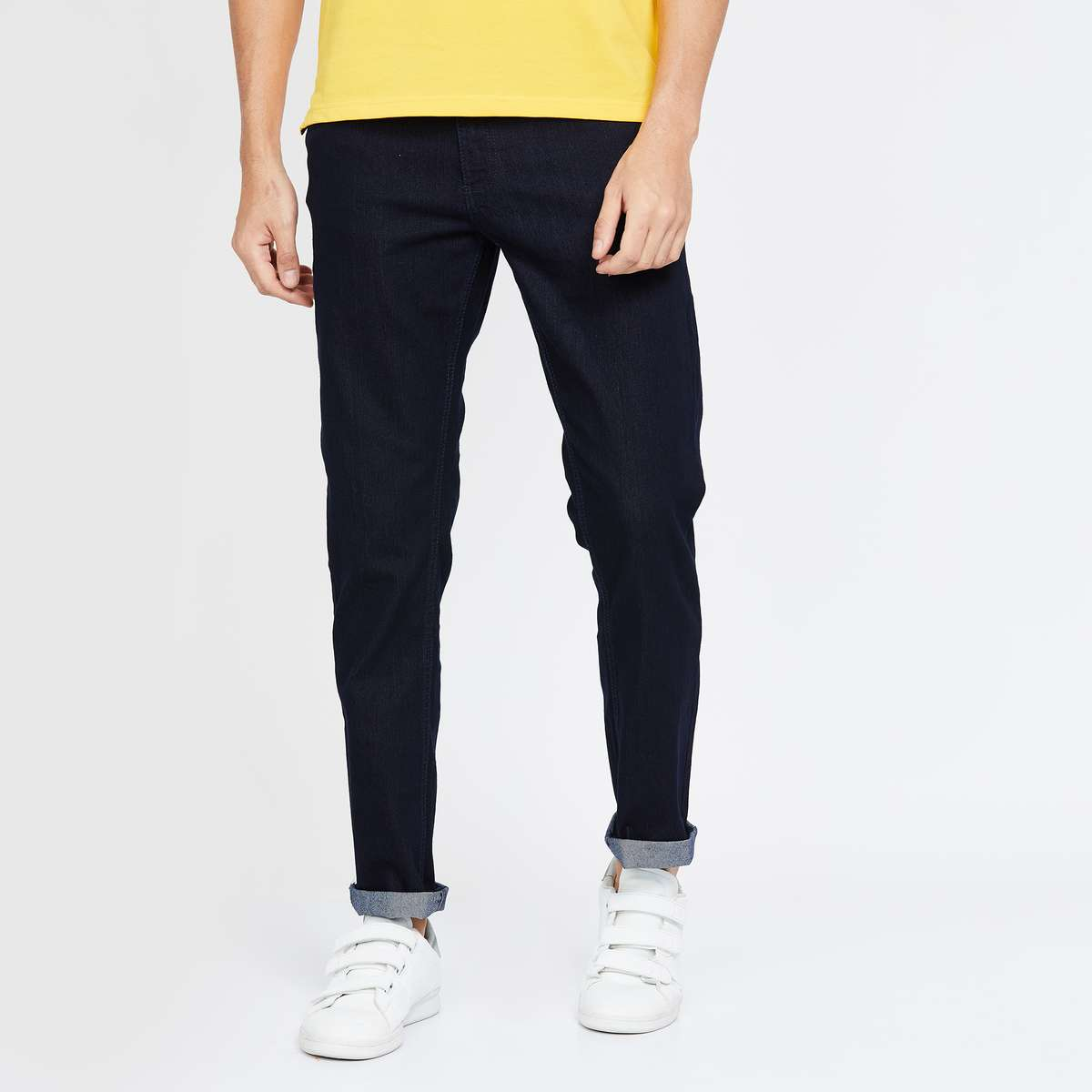 FORCA Men Solid Slim Tapered Jeans