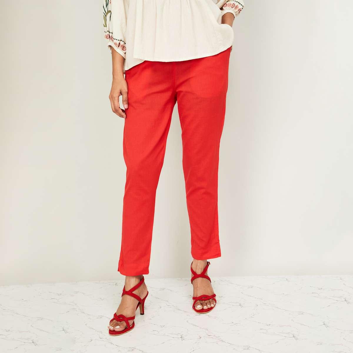 DE MOZA Women Solid Cropped Pants