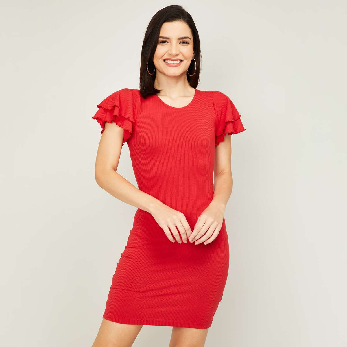 GINGER Women Solid Bodycon Dress
