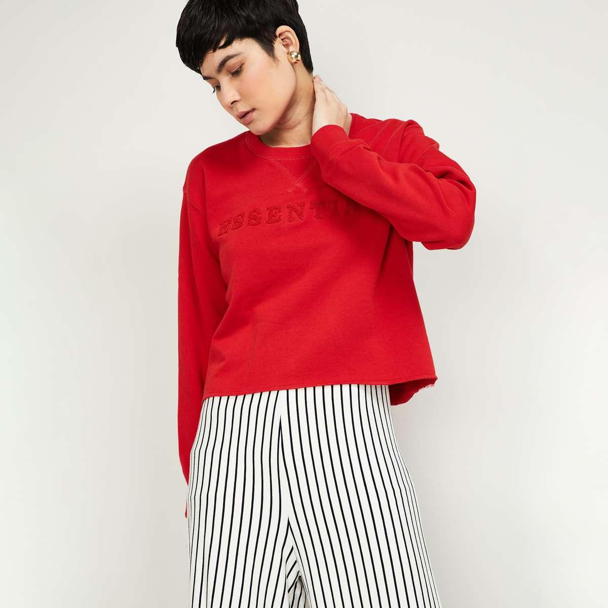 VERO MODA Women Printed Full Sleeves Sweatshirt