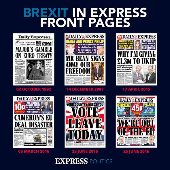 How Daily Express covered Brexit
