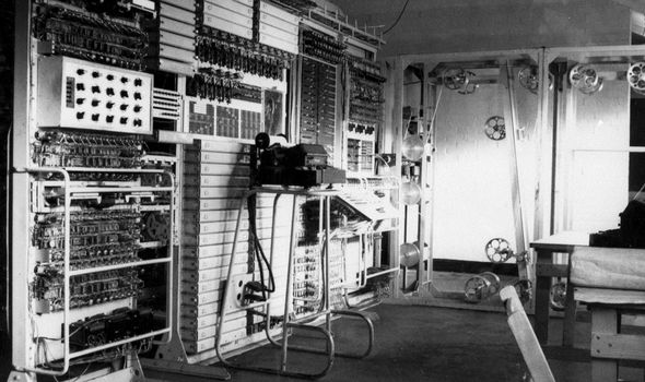 Colossus, the world's first electronic programmable computer, at Bletchley Park