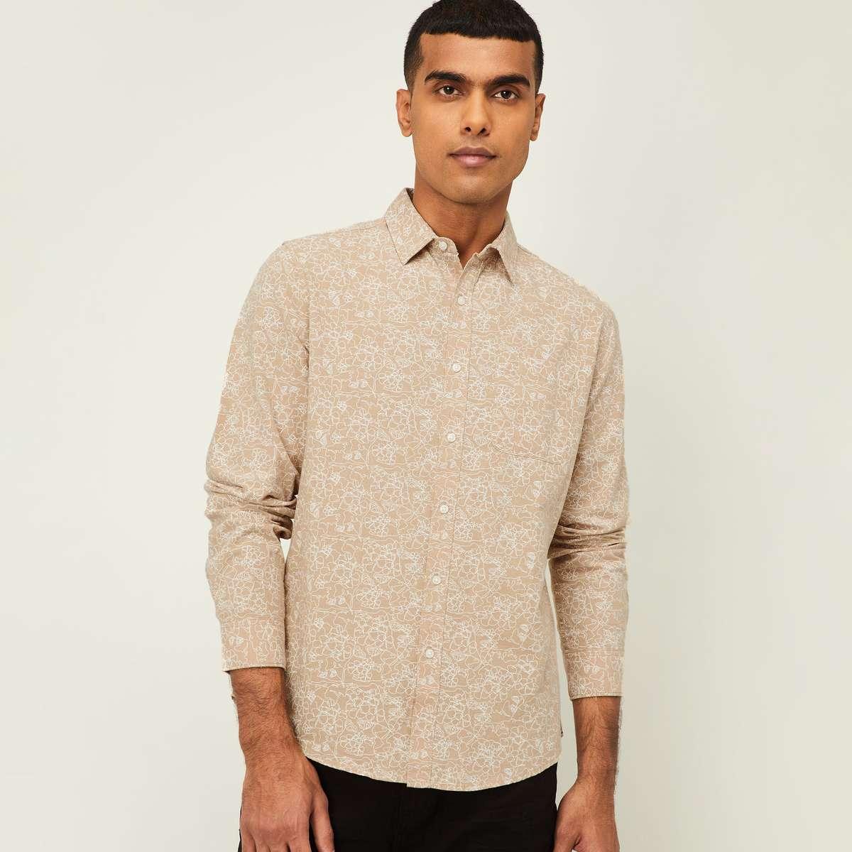4.DENIMIZE Men Printed Regular Fit Casual Shirt