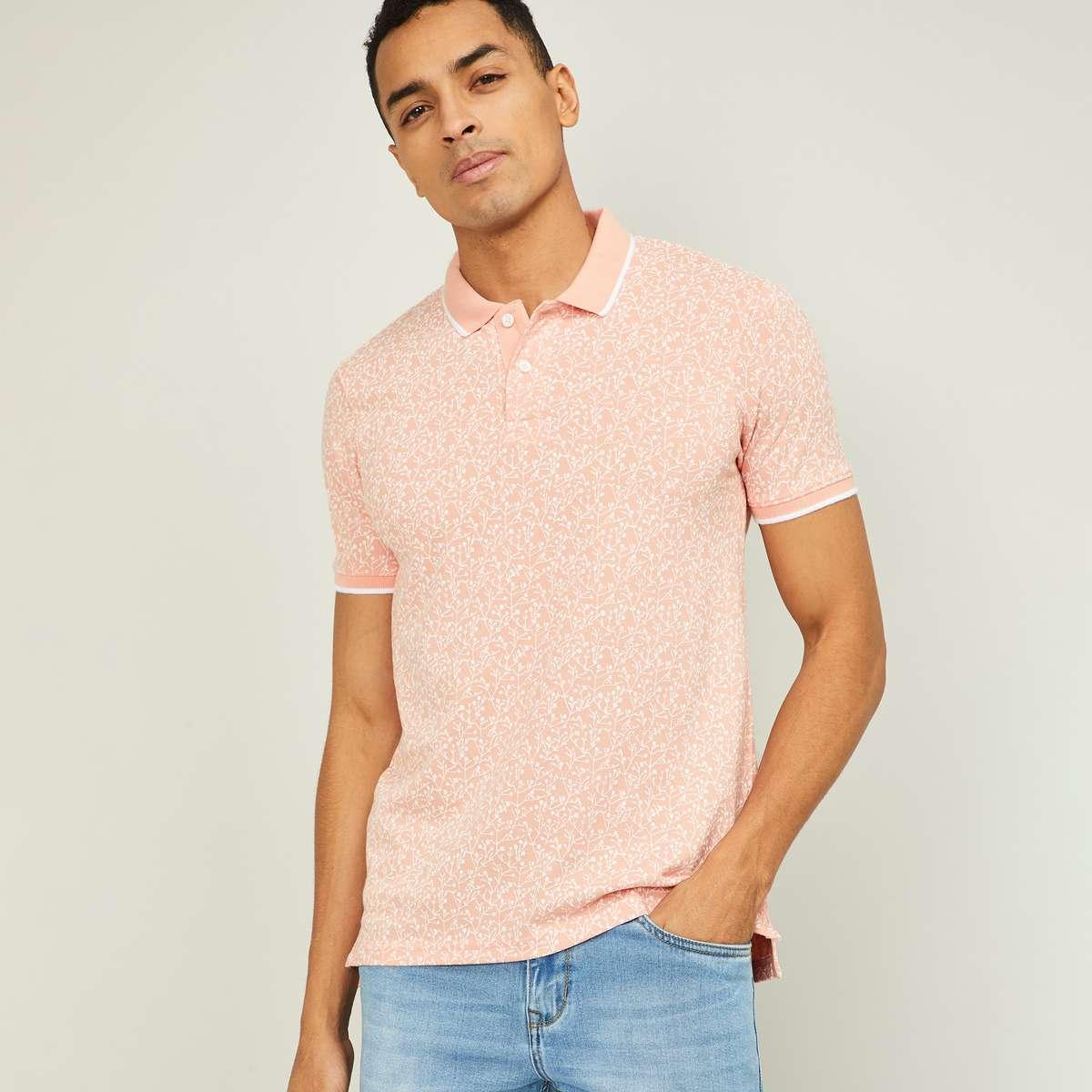 1.FAME FOREVER Men Printed Polo T-shirt