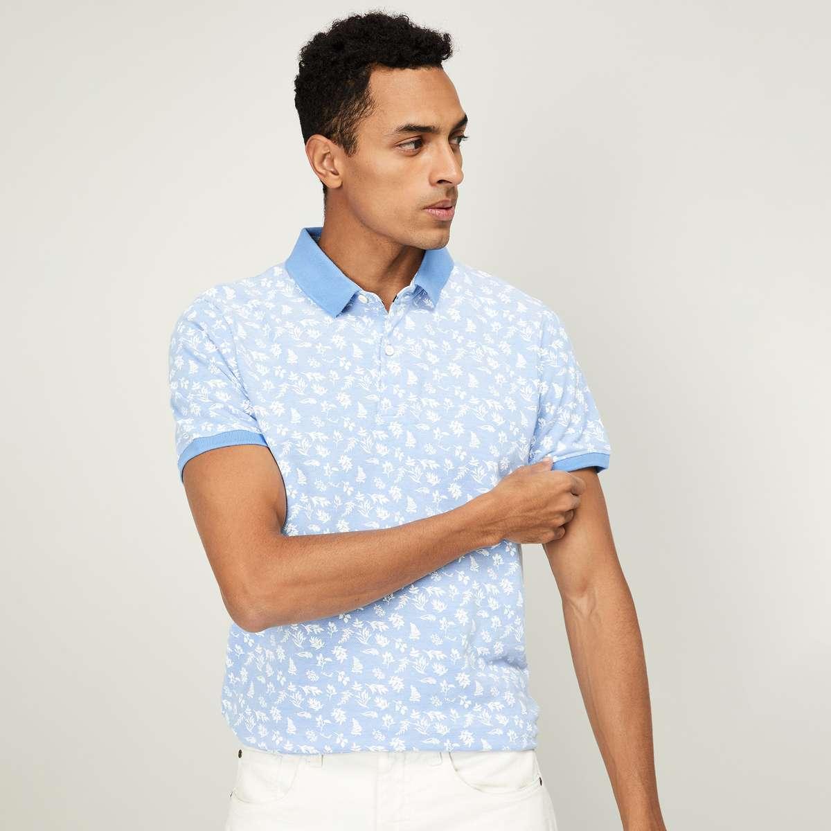 3.FAME FOREVER Men Printed Regular Ftit Polo T-shirt