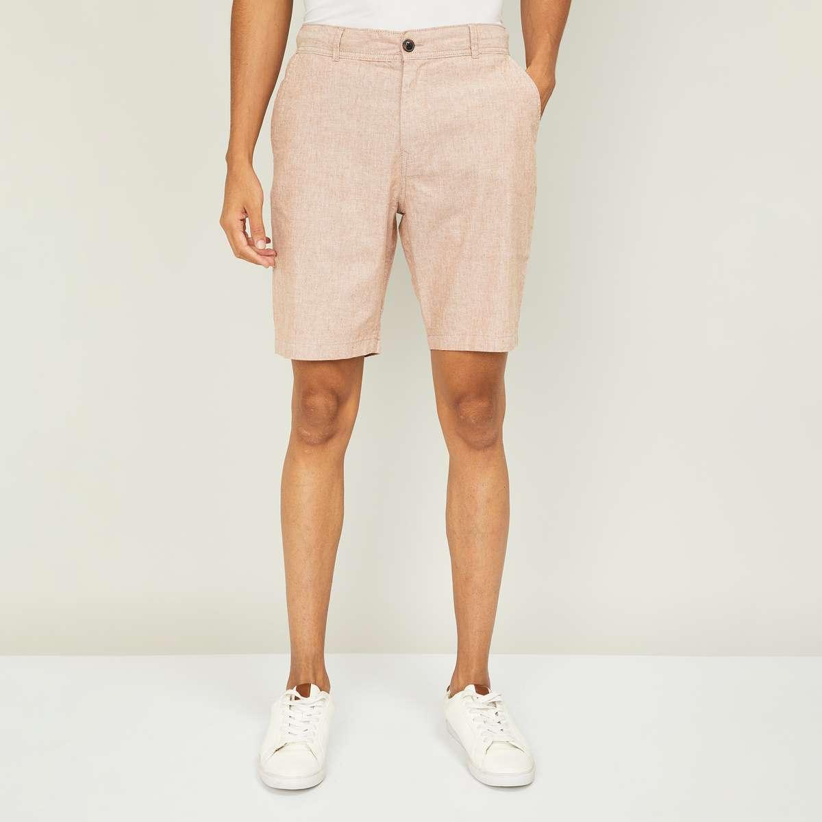 1.BOSSINI Men Solid Regular Fit Shorts