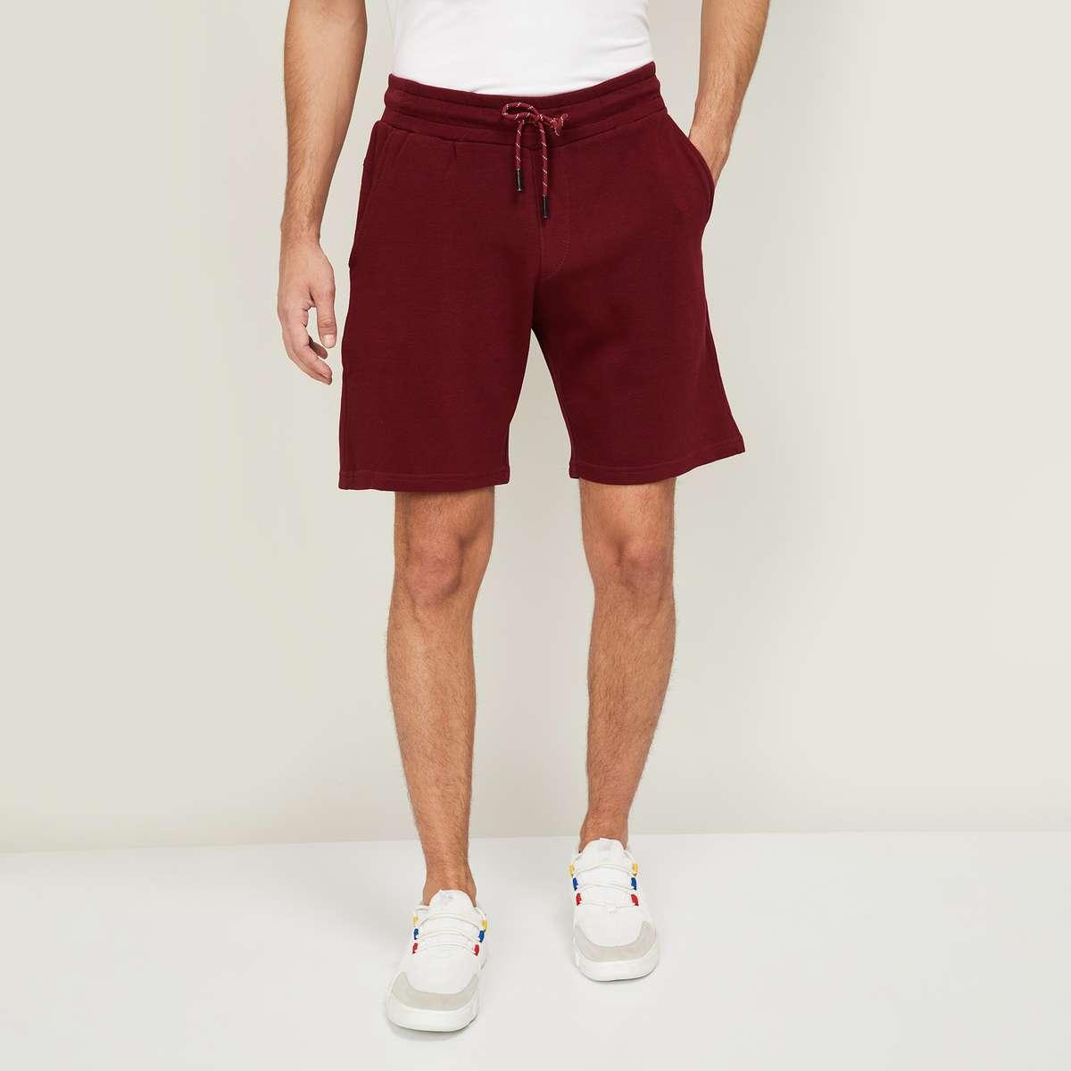 3.LEE COOPER Men Solid Elasticated Shorts