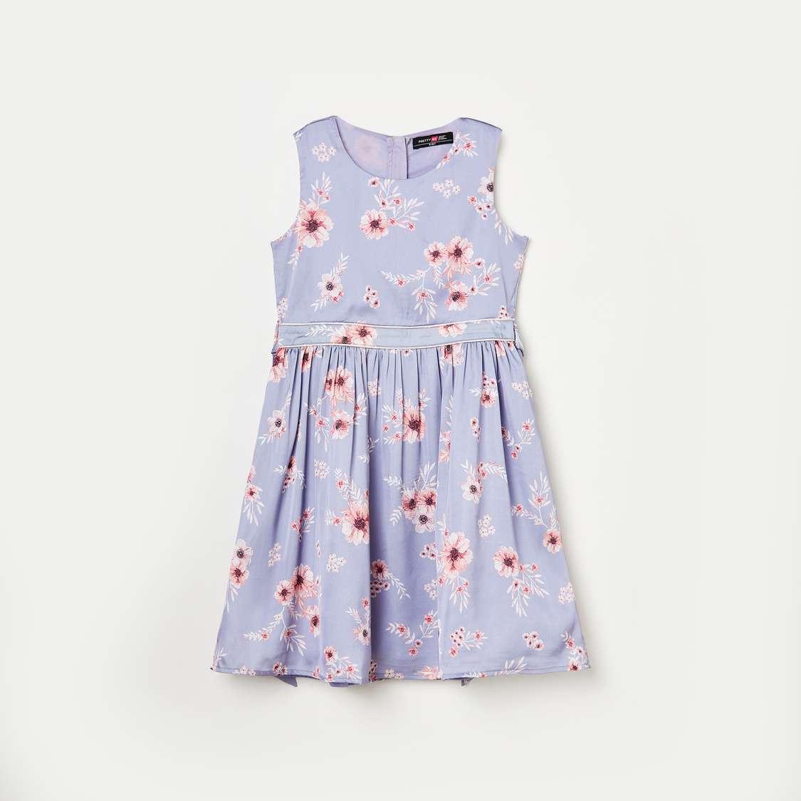 3.PRETTY ME Girls Floral Print Dress