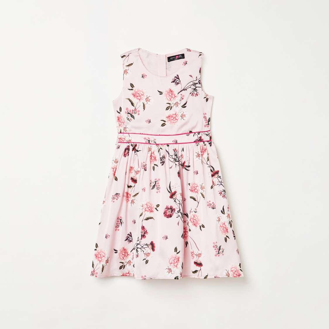 4.PRETTY ME Girls Floral Print Dress