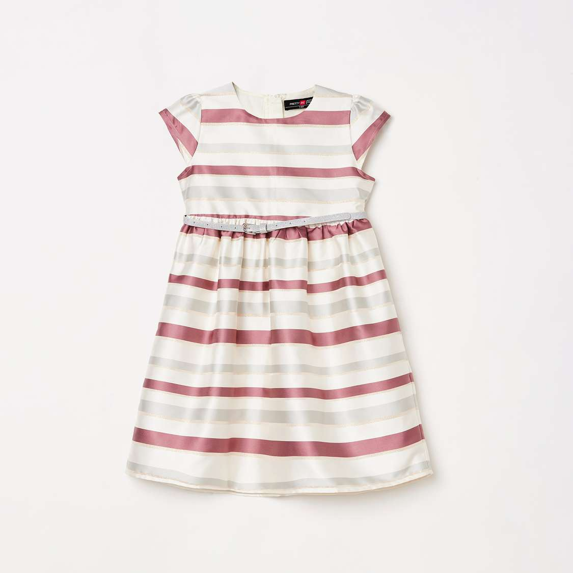 8.PRETTY ME Girls Striped A-Line Dress
