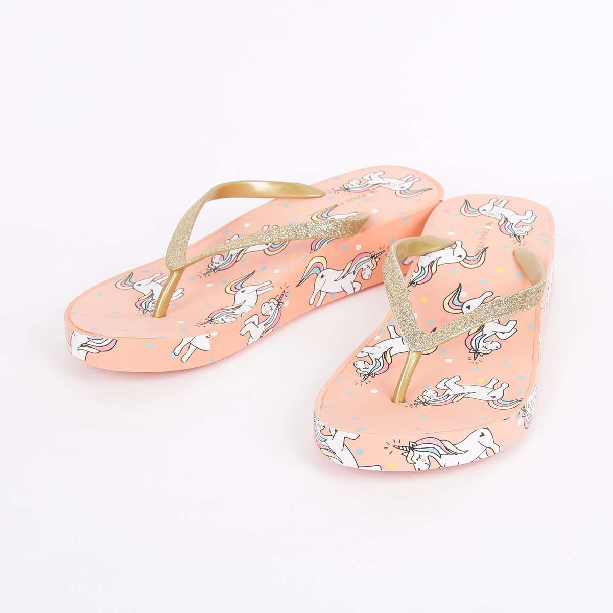 2.FAME FOREVER Girls Printed Flip Flops