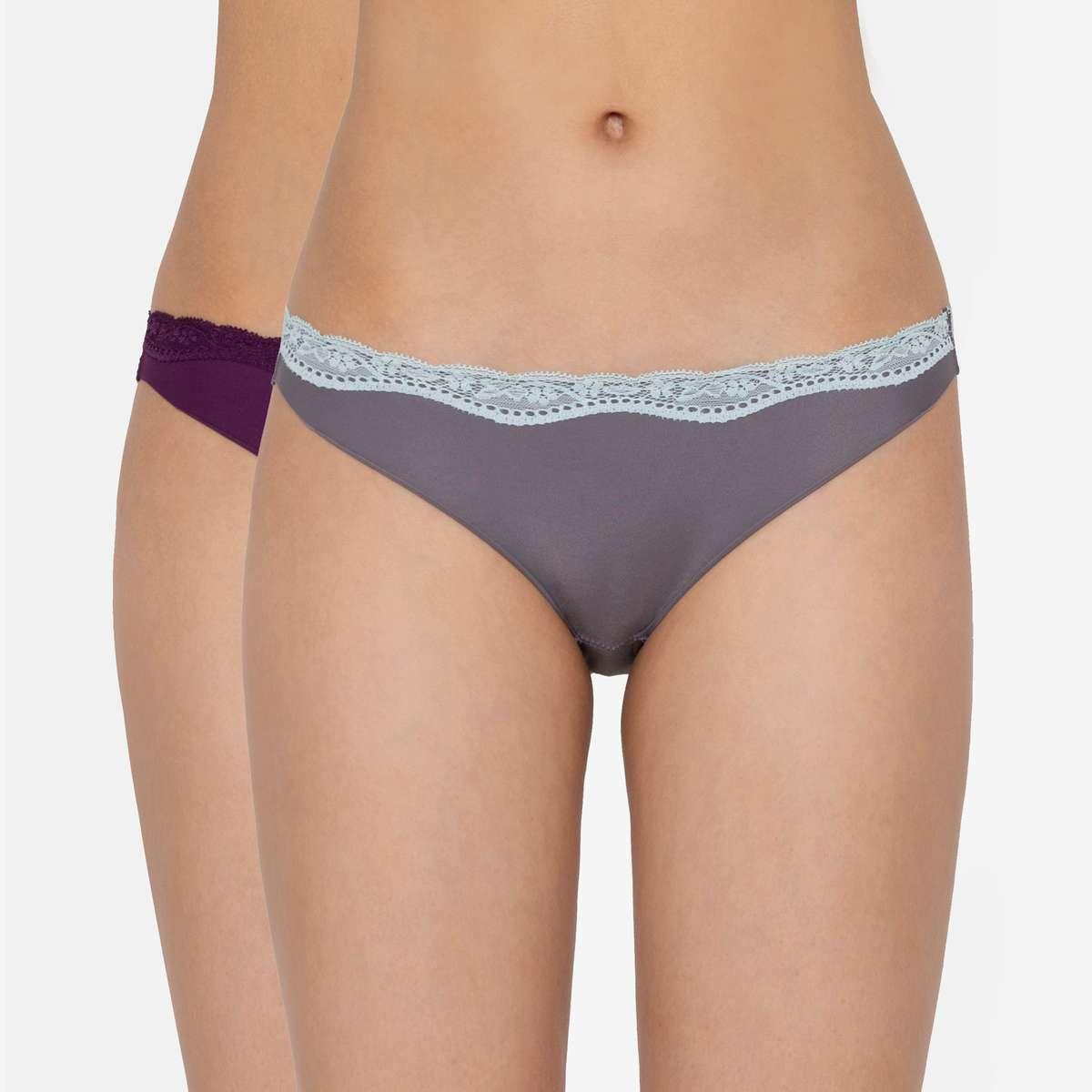 6.TRIUMPH Stretty Everyday Microfibre Bikini Lace Panties - Pack of 2