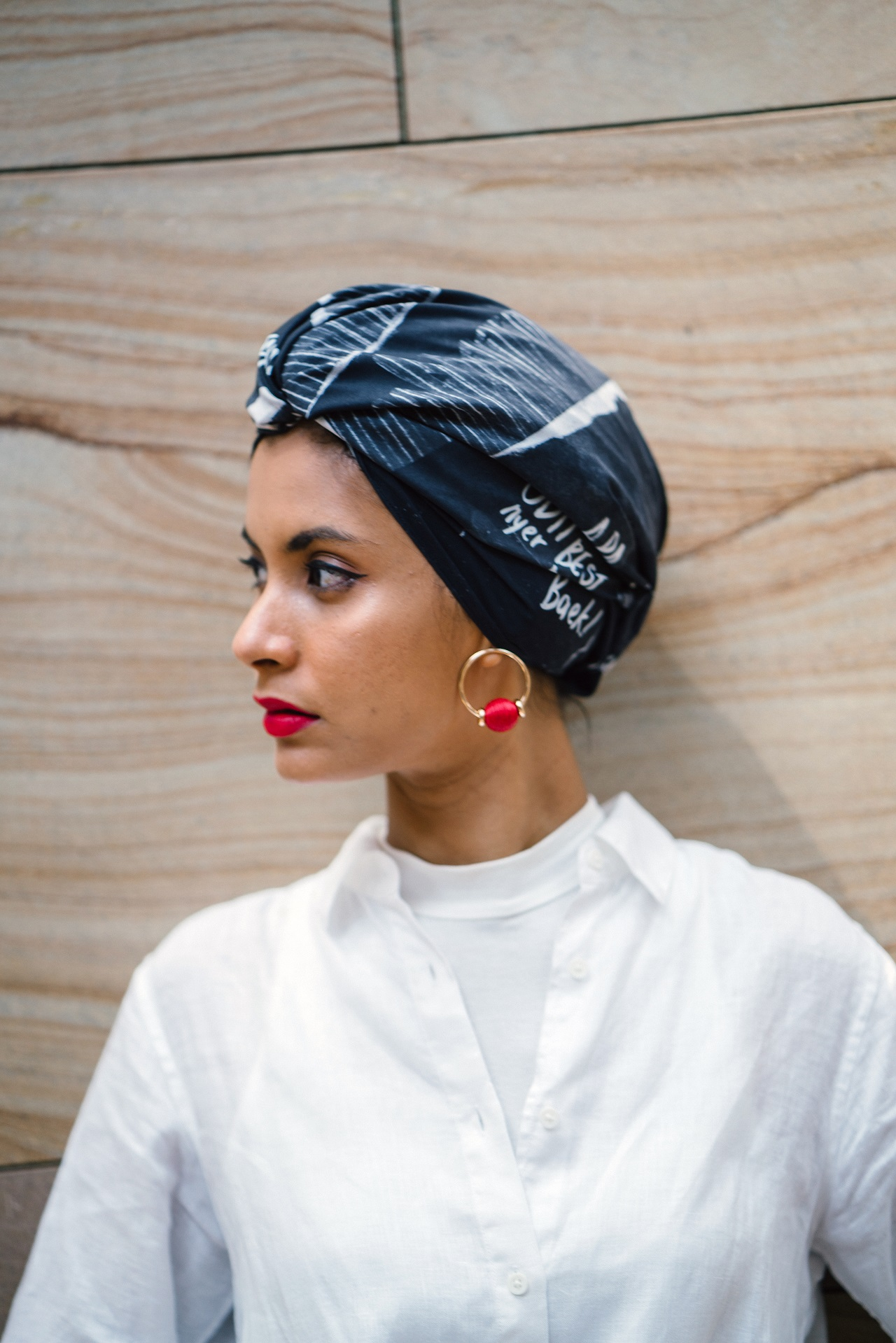 Stylish hair cover-up