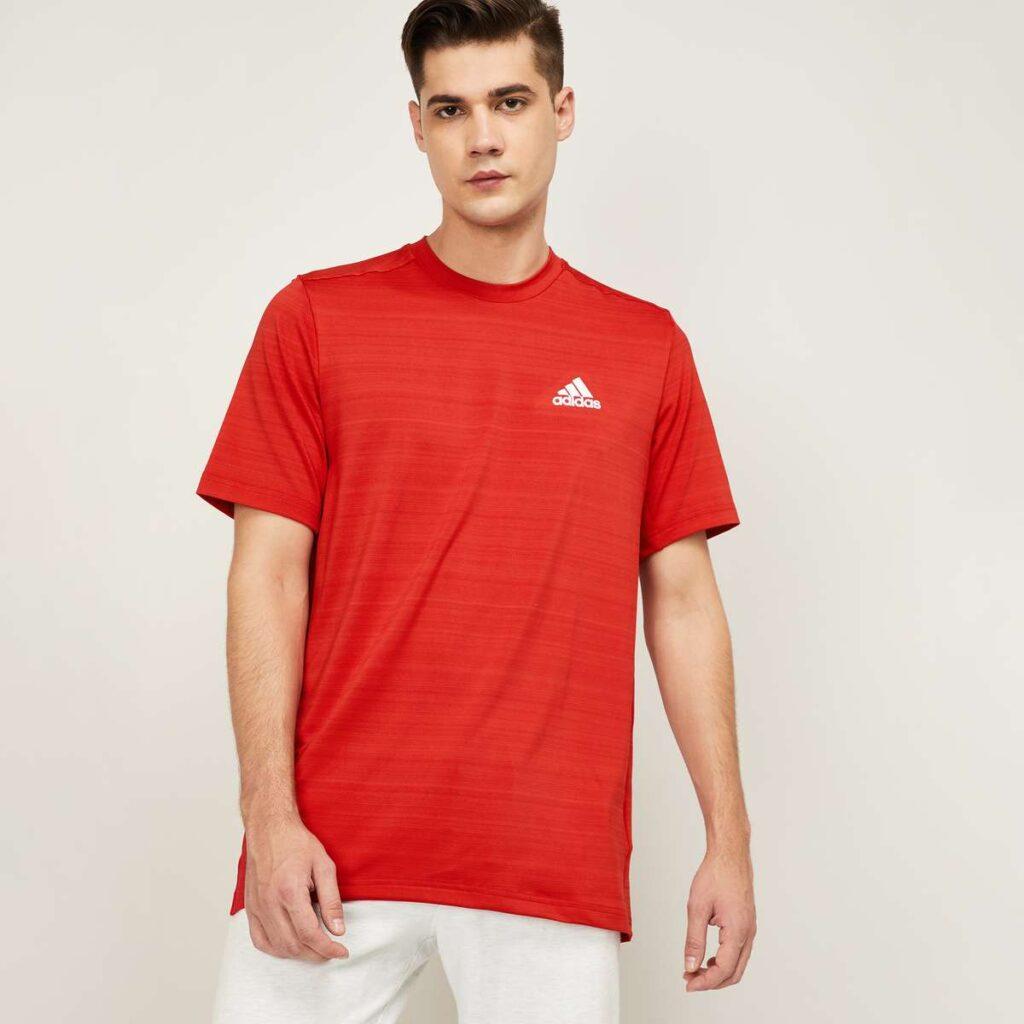 ADIDAS Men Solid Regular Fit T-shirt