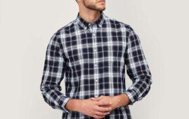 DENIMIZE Men Checked Button-Down Collar Shirt