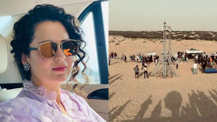 Kangana Ranaut wraps up Rajasthan schedule of Tejas; shares BTS pics
