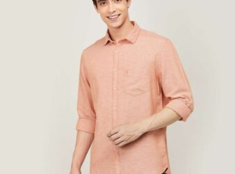 1.CODE Men Solid Regular Fit Casual Shirt