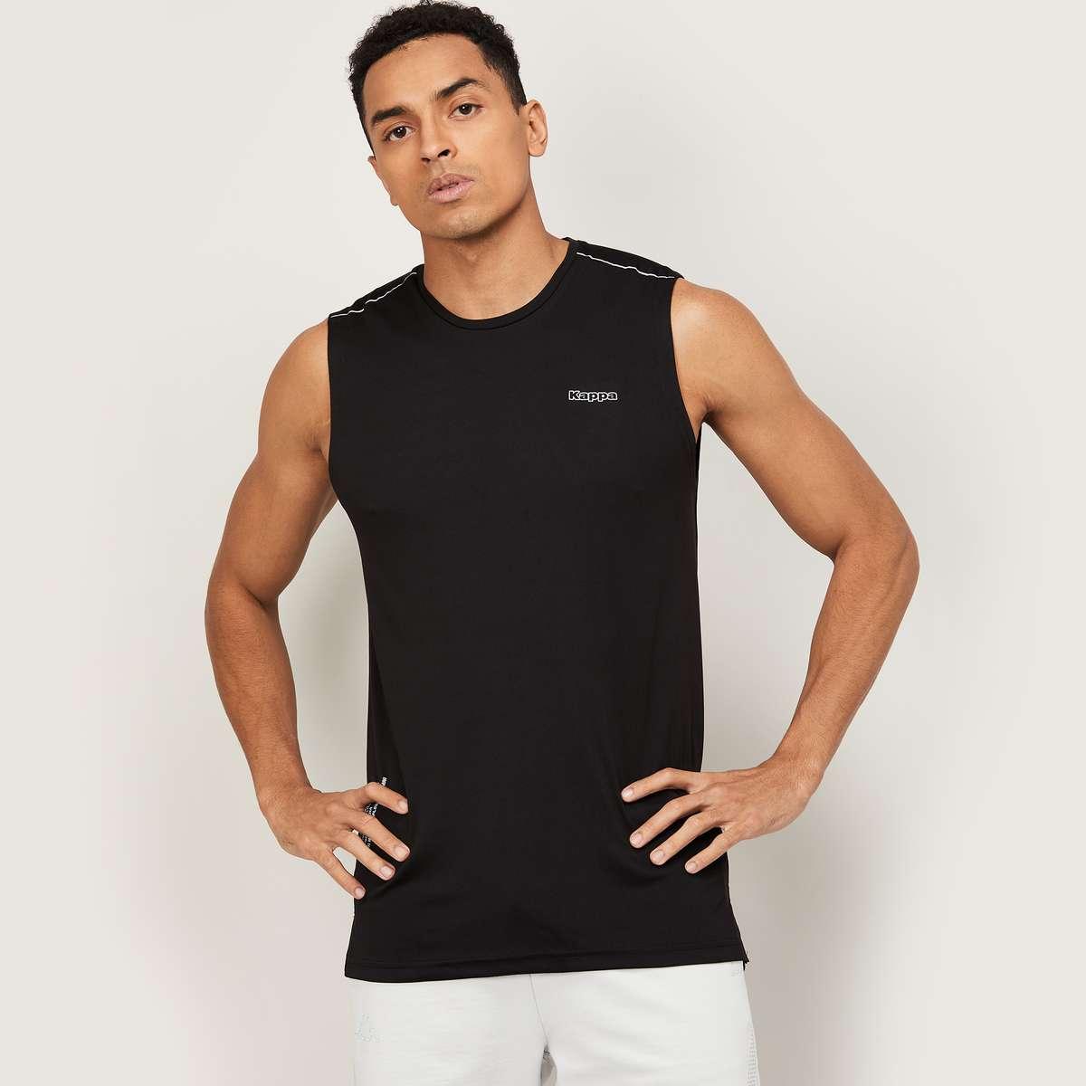 1.KAPPA Men Printed Crew Neck T-Shirt