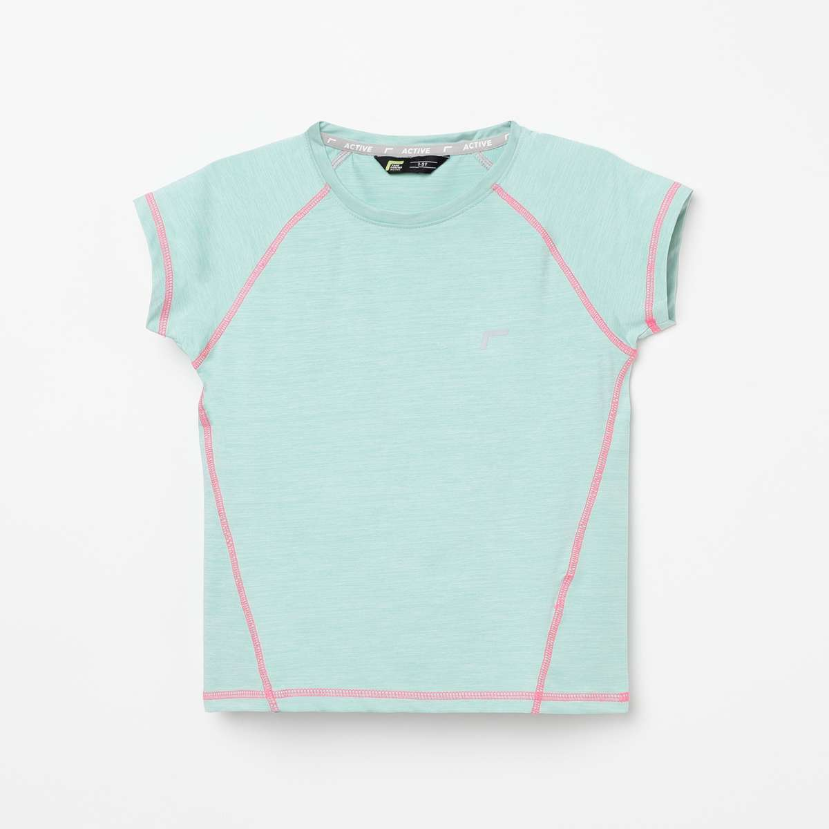 1.FAME ACTIVE Girls Textured Knit T-shirt
