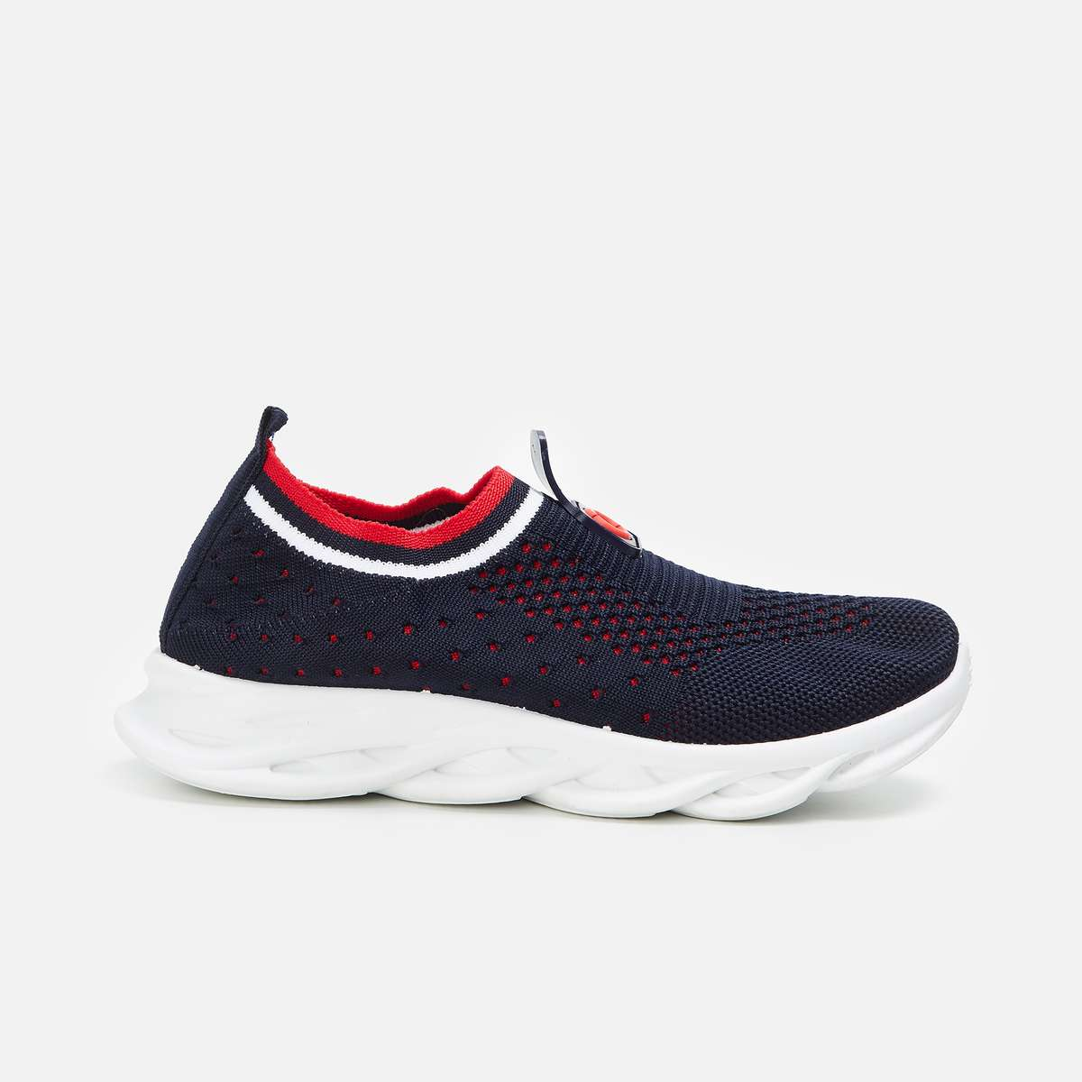 3.FAME FOREVER Boys Textured Sock-Knit Shoes
