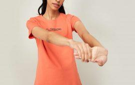 1.KAPPA Women Printed Regular Fit T-shirt