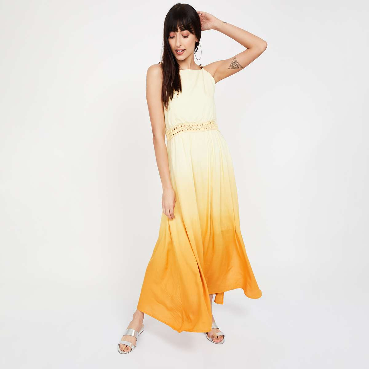6.CODE Ombre-Dyed Maxi Dress