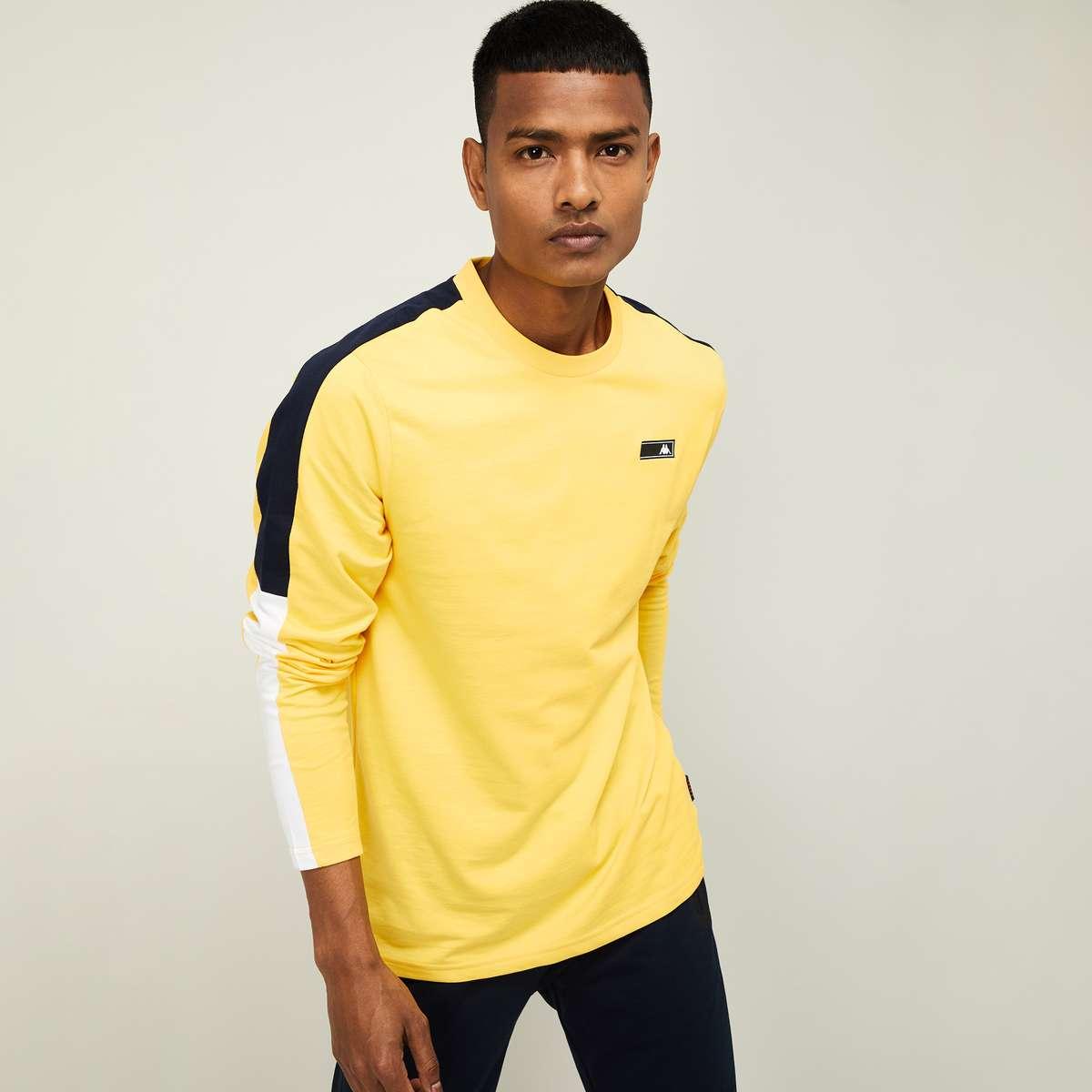 6.KAPPA Men Colourblocked Regular Fit Crew Neck T-shirt