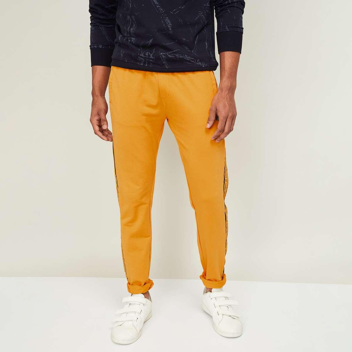 5.STATUS QUO Men Printed Elasticated Track Pants