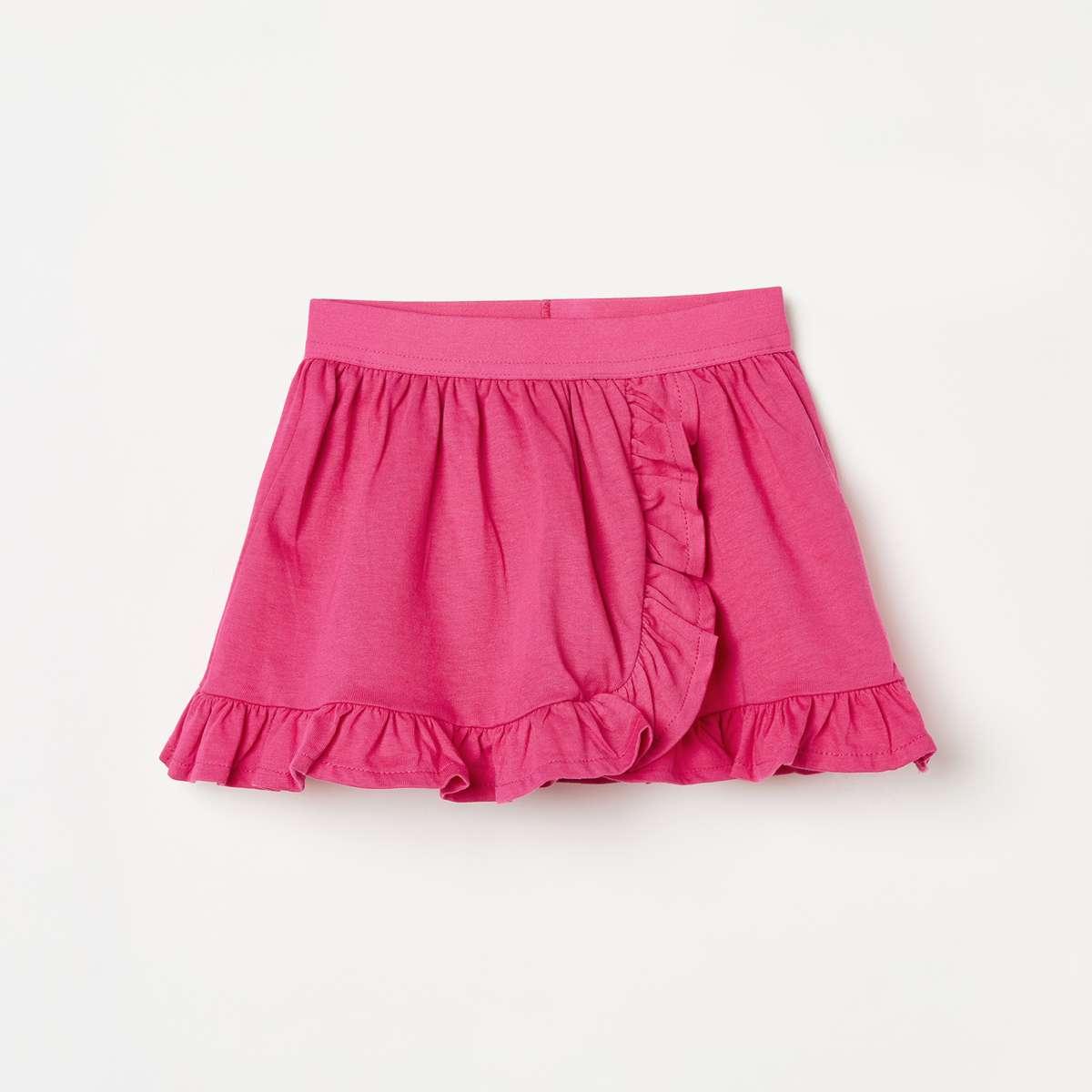 JUNIORS Girls Solid Layered Skirt