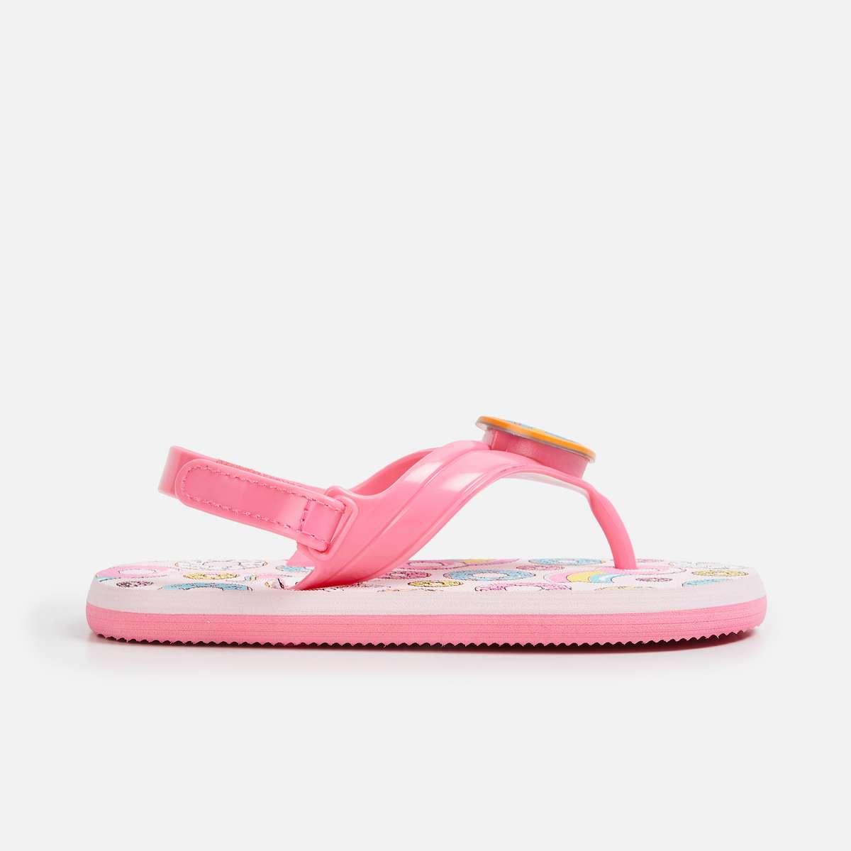 FAME FOREVER Girls Printed V-strap Slippers
