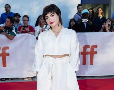 """Actress Devery Jacobs poses for photographs on the red carpet during the Toronto International Film Festival in Toronto on Thursday, September 13, 2018. Jacobs grew up in the Kanien'kehá:ka Mohawk Territory in Quebec but says shooting her new TV series """"Reservation Dogs"""" in the U.S. felt like """"a sense of home. """" THE CANADIAN PRESS/Nathan Denette"""