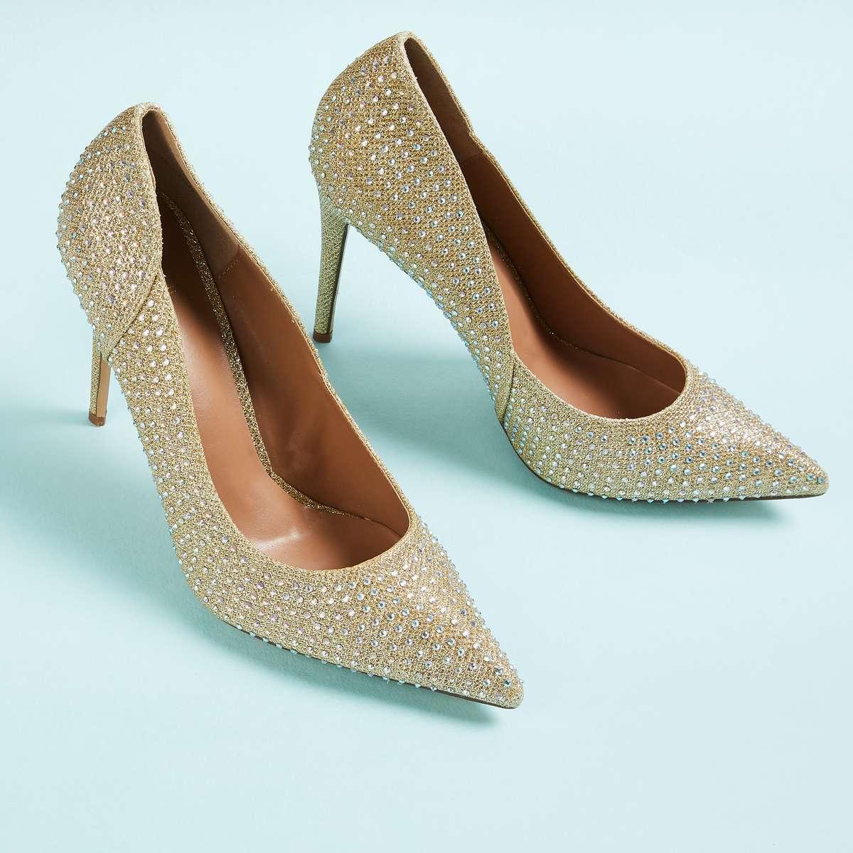 1.CATWALK Women Embellished Pointed Heels
