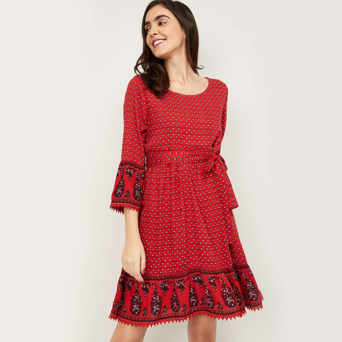 2.FAME FOREVER Women Printed A-Line Dress