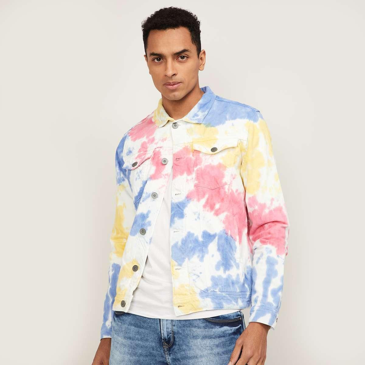 1.FORCA Men Tie-Dye Print Jacket