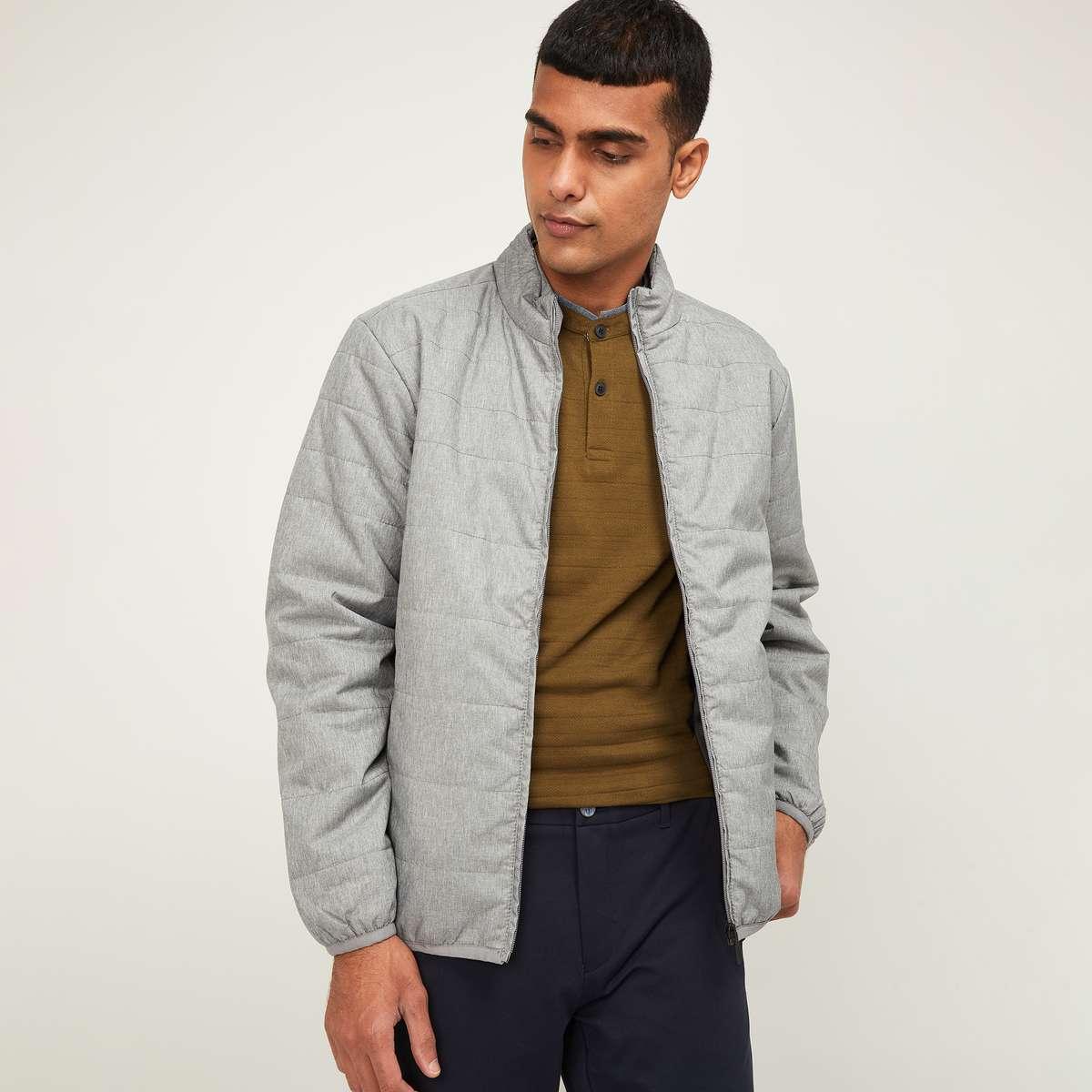 2.CODE Men Solid Casual Jacket