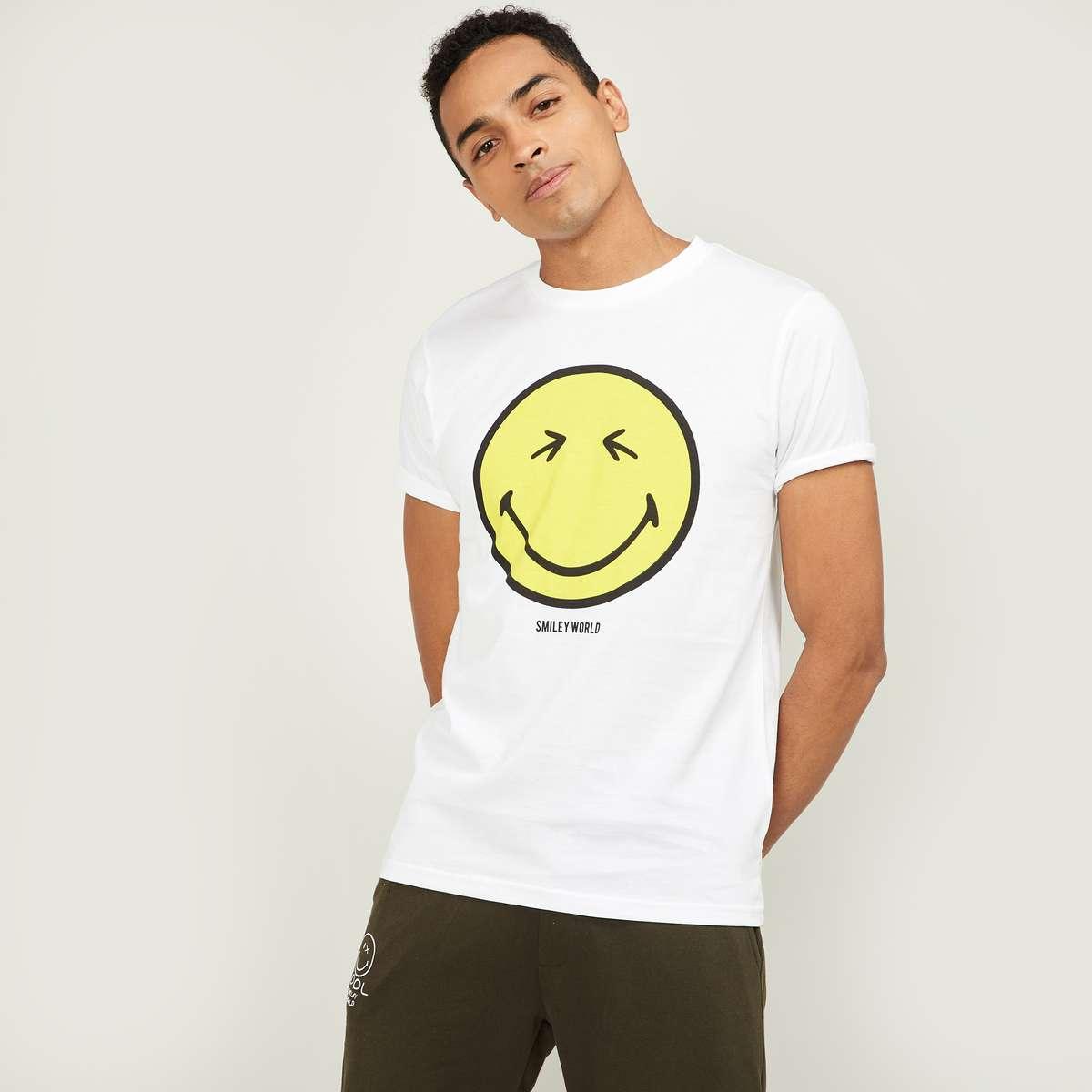 2.SMILEYWORLD Men Graphic Print Regular Fit T-shirt